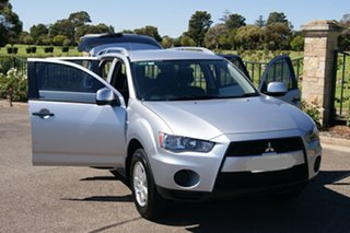 2009 Mitsubishi Outlander ZH MY10 LS Silver 6 Speed CVT Auto Sequential Wagon