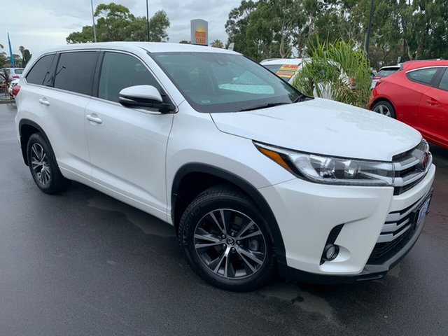 Used Toyota Kluger GSU55R GX AWD Bunbury, 2018 Toyota Kluger GSU55R GX AWD White 8 Speed Sports Automatic Wagon