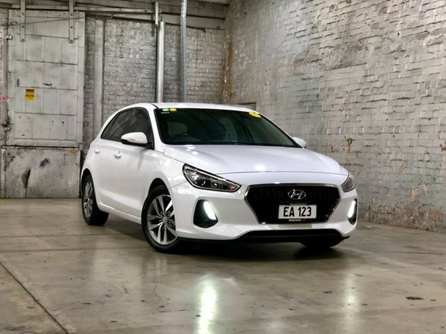 Used Hyundai i30 PD2 MY18 Active Mile End South, 2018 Hyundai i30 PD2 MY18 Active White 6 Speed Sports Automatic Hatchback