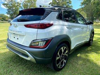 2020 Hyundai Kona Os.v4 MY21 Highlander 2WD Atlas White Black Roof 8 Speed Constant Variable Wagon