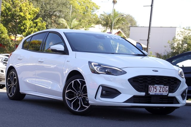 Used Ford Focus SA 2019.75MY ST-Line Newstead, 2019 Ford Focus SA 2019.75MY ST-Line White 8 Speed Automatic Hatchback