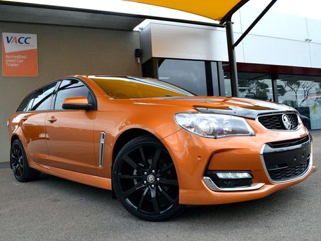 Used Holden Commodore VF II MY17 SV6 Sportwagon Fawkner, 2017 Holden Commodore VF II MY17 SV6 Sportwagon Orange 6 Speed Sports Automatic Wagon
