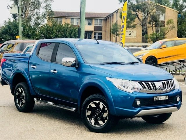 Used Mitsubishi Triton MQ MY16 Exceed Double Cab Liverpool, 2016 Mitsubishi Triton MQ MY16 Exceed Double Cab Blue 5 Speed Sports Automatic Utility