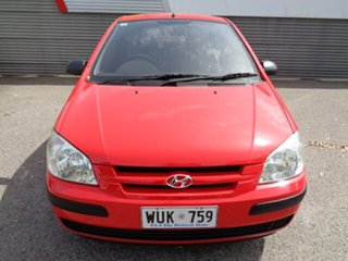 2002 Hyundai Getz TB GL Red 5 Speed Manual Hatchback.
