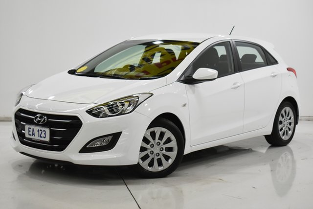 Used Hyundai i30 GD4 Series II MY17 Active Brooklyn, 2017 Hyundai i30 GD4 Series II MY17 Active White 6 Speed Sports Automatic Hatchback