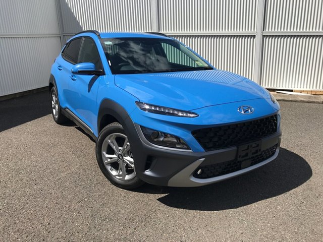 New Hyundai Kona Os.v4 MY21 Elite 2WD Gladstone, 2020 Hyundai Kona Os.v4 MY21 Elite 2WD Blue 8 Speed Constant Variable Wagon