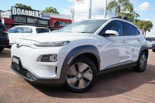2019 Hyundai Kona OS.3 Highlander Electric White 1 Speed Automatic Wagon.
