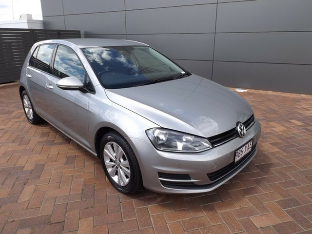 Used Volkswagen Golf VII 90TSI DSG Comfortline Toowoomba, 2013 Volkswagen Golf VII 90TSI DSG Comfortline Tungsten Silver 7 Speed Sports Automatic Dual Clutch