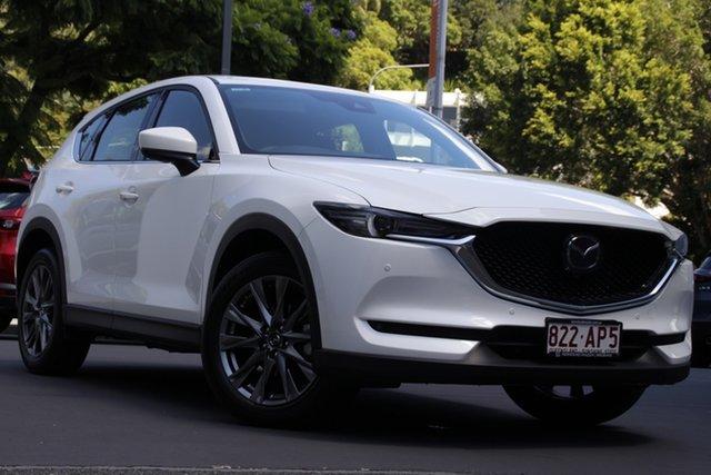 Demo Mazda CX-5 KF4WLA Akera SKYACTIV-Drive i-ACTIV AWD Newstead, 2020 Mazda CX-5 KF4WLA Akera SKYACTIV-Drive i-ACTIV AWD Snowflake White 6 Speed Sports Automatic