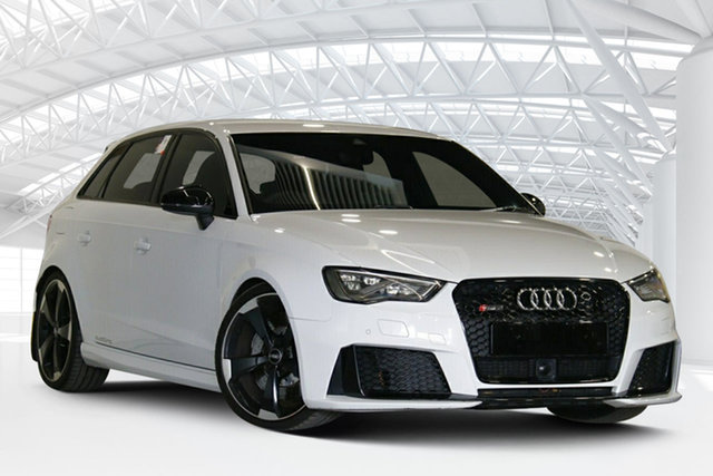 Used Audi RS 3 8V MY16 Sportback S Tronic Quattro Moorebank, 2016 Audi RS 3 8V MY16 Sportback S Tronic Quattro White 7 Speed Sports Automatic Dual Clutch