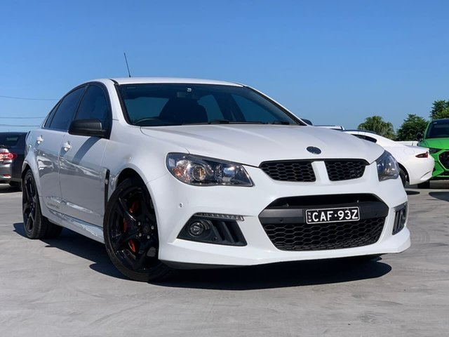 Used Holden Special Vehicles ClubSport Gen-F MY15 Liverpool, 2015 Holden Special Vehicles ClubSport Gen-F MY15 Heron White 6 Speed Sports Automatic Sedan