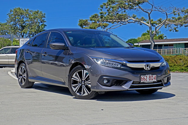 Used Honda Civic 10th Gen MY16 VTi-LX Capalaba, 2017 Honda Civic 10th Gen MY16 VTi-LX Grey 1 Speed Constant Variable Sedan