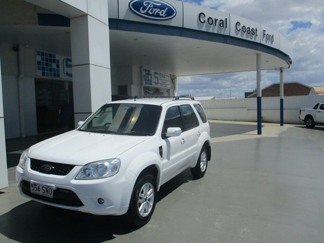 Used Ford Escape ZD Bundaberg, 2010 Ford Escape ZD White 4 Speed Automatic SUV