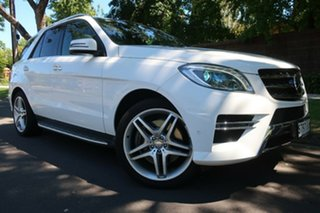 2013 Mercedes-Benz M-Class W166 ML400 7G-Tronic + White 7 Speed Sports Automatic Wagon.