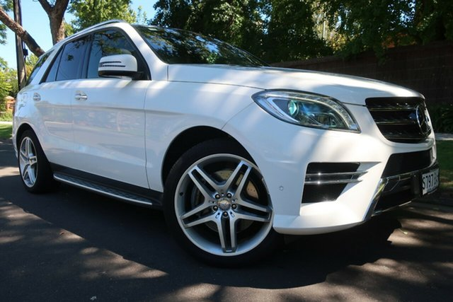 Used Mercedes-Benz M-Class W166 ML400 7G-Tronic + Prospect, 2013 Mercedes-Benz M-Class W166 ML400 7G-Tronic + White 7 Speed Sports Automatic Wagon