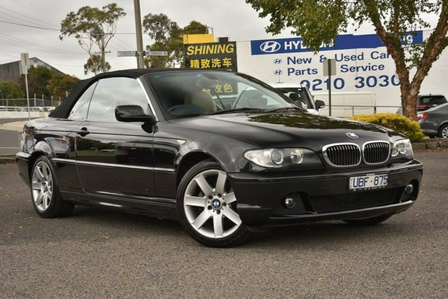 Used BMW 3 Series E46 MY05 325Ci Steptronic Nunawading, 2006 BMW 3 Series E46 MY05 325Ci Steptronic Black 5 Speed Sports Automatic Convertible