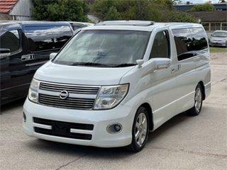 2008 Nissan Elgrand E51 Highway Star White Automatic Wagon.