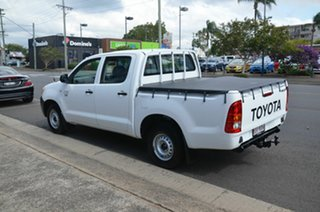 2007 Toyota Hilux TGN16R 06 Upgrade Workmate White 5 Speed Manual Dual Cab Pick-up