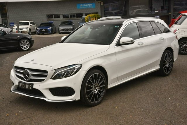 Used Mercedes-Benz C-Class S205 808MY C300 Estate 9G-Tronic Nunawading, 2018 Mercedes-Benz C-Class S205 808MY C300 Estate 9G-Tronic White 9 Speed Sports Automatic Wagon