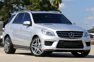 2015 Mercedes-Benz ML63 AMG 166 MY14 4x4 Silver 7 Speed Automatic Wagon.