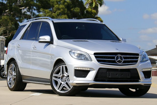 Used Mercedes-Benz ML63 AMG 166 MY14 4x4 Chullora, 2014 Mercedes-Benz ML63 AMG 166 MY14 4x4 Silver 7 Speed Automatic Wagon