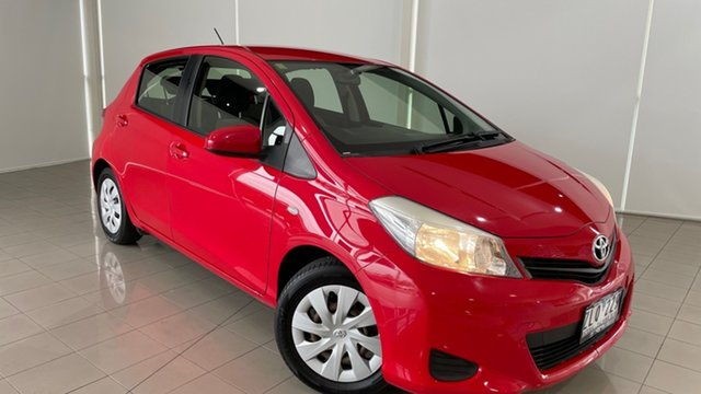 Used Toyota Yaris NCP131R YRS Deer Park, 2013 Toyota Yaris NCP131R YRS Red 4 Speed Automatic Hatchback