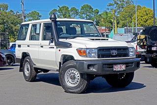 2020 Toyota Landcruiser VDJ76R Workmate White 5 Speed Manual Wagon.