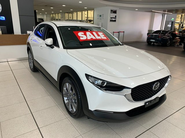 New Mazda CX-30 DM2W7A G20 SKYACTIV-Drive Evolve Alexandria, 2021 Mazda CX-30 DM2W7A G20 SKYACTIV-Drive Evolve Snowflake White 6 Speed Sports Automatic Wagon