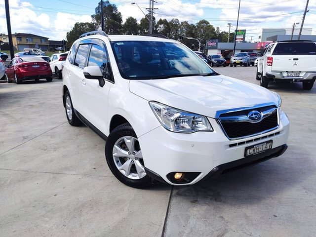 Used Subaru Forester S4 MY15 2.0D-L CVT AWD Liverpool, 2015 Subaru Forester S4 MY15 2.0D-L CVT AWD White 7 Speed Constant Variable Wagon