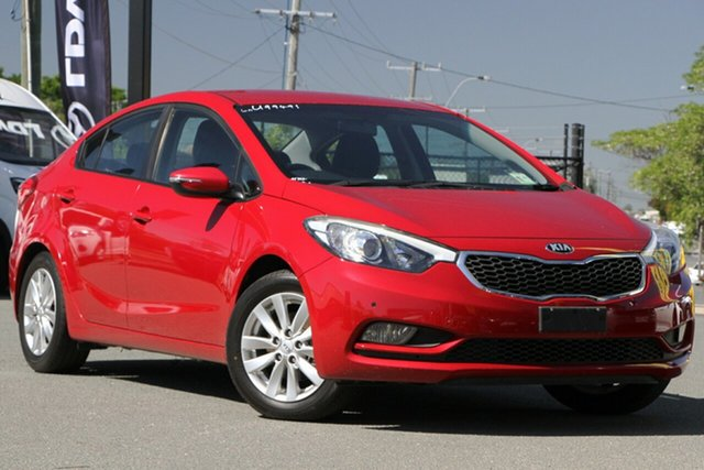 Used Kia Cerato YD MY15 S Premium Rocklea, 2015 Kia Cerato YD MY15 S Premium Temptation Red 6 Speed Sports Automatic Sedan