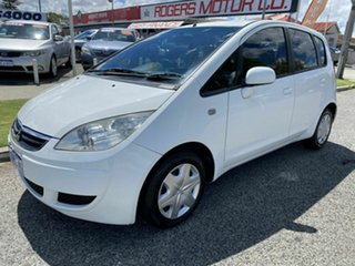2006 Mitsubishi Colt RG MY06 LS White Continuous Variable Hatchback.
