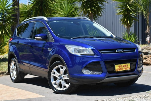 Used Ford Kuga TF Trend PwrShift AWD Morphett Vale, 2014 Ford Kuga TF Trend PwrShift AWD Blue 6 Speed Sports Automatic Dual Clutch Wagon