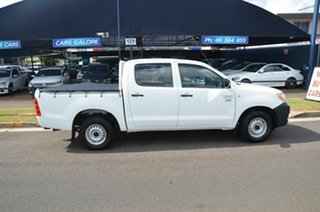 2007 Toyota Hilux TGN16R 06 Upgrade Workmate White 5 Speed Manual Dual Cab Pick-up.