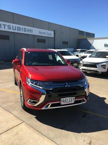 Demo Mitsubishi Outlander ZL MY21 PHEV AWD Exceed Hillcrest, 2020 Mitsubishi Outlander ZL MY21 PHEV AWD Exceed Diamond Red 1 Speed Automatic Wagon Hybrid