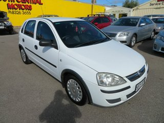 2004 Holden Barina White 4 Speed Auto Active Select Hatchback.