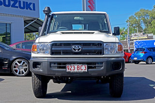 2020 Toyota Landcruiser VDJ76R Workmate White 5 Speed Manual Wagon.