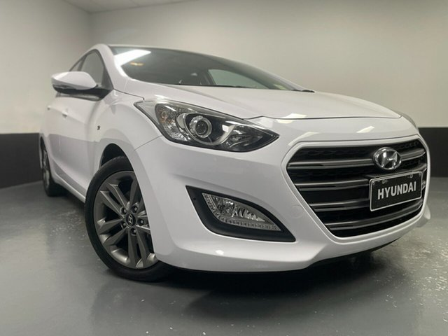 Used Hyundai i30 GD3 Series II MY16 SR Cardiff, 2015 Hyundai i30 GD3 Series II MY16 SR Cream 6 Speed Sports Automatic Hatchback
