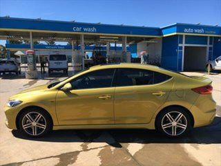 2016 Hyundai Elantra AD MY17 SR DCT Turbo Mustard 7 Speed Sports Automatic Dual Clutch Sedan