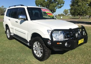 2014 Mitsubishi Pajero NW MY14 Exceed White 5 Speed Sports Automatic Wagon.