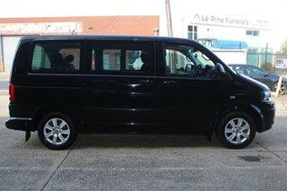 2012 Volkswagen Multivan T5 MY12 Comfortline TDI340 Black 7 Speed Auto Direct Shift Wagon