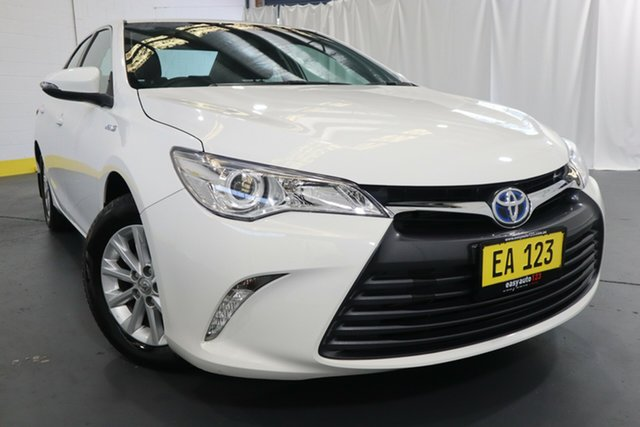 Used Toyota Camry AVV50R Altise Castle Hill, 2017 Toyota Camry AVV50R Altise White 1 Speed Constant Variable Sedan Hybrid
