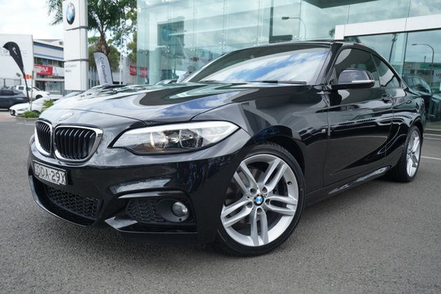 Used BMW 220i F22 M Sport Brookvale, 2015 BMW 220i F22 M Sport Black Sapphire 8 Speed Automatic Coupe