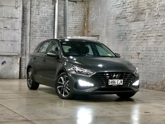 Used Hyundai i30 PD.V4 MY21 Active Mile End South, 2020 Hyundai i30 PD.V4 MY21 Active Grey 6 Speed Sports Automatic Hatchback