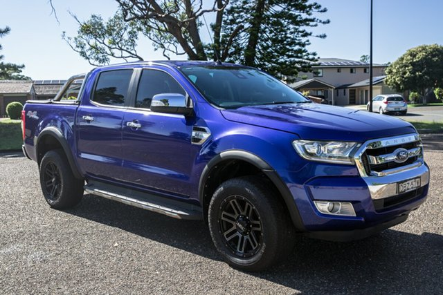 Used Ford Ranger PX MkII XLT Double Cab Port Macquarie, 2015 Ford Ranger PX MkII XLT Double Cab Blue 6 Speed Sports Automatic Utility