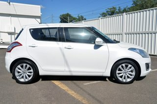 2016 Suzuki Swift FZ MY15 GL Navigator White 4 Speed Automatic Hatchback.