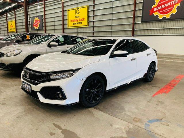 Used Honda Civic 10th Gen MY17 RS Canning Vale, 2017 Honda Civic 10th Gen MY17 RS White 1 Speed Constant Variable Sedan