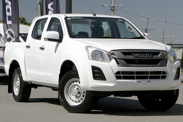 Used Isuzu D-MAX MY17 SX Crew Cab 4x2 High Ride Rocklea, 2018 Isuzu D-MAX MY17 SX Crew Cab 4x2 High Ride Splash White 6 Speed Sports Automatic Utility