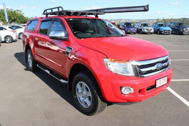 Used Ford Ranger PX XLT Double Cab Augustine Heights, 2014 Ford Ranger PX XLT Double Cab True Red 6 Speed Sports Automatic Utility