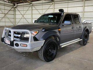 2009 Ford Ranger PJ XL Crew Cab Grey 5 Speed Manual Cab Chassis.