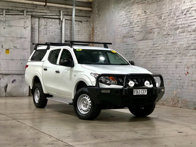Used Mitsubishi Triton MQ MY16 GLX Double Cab Mile End South, 2016 Mitsubishi Triton MQ MY16 GLX Double Cab White 6 Speed Manual Utility